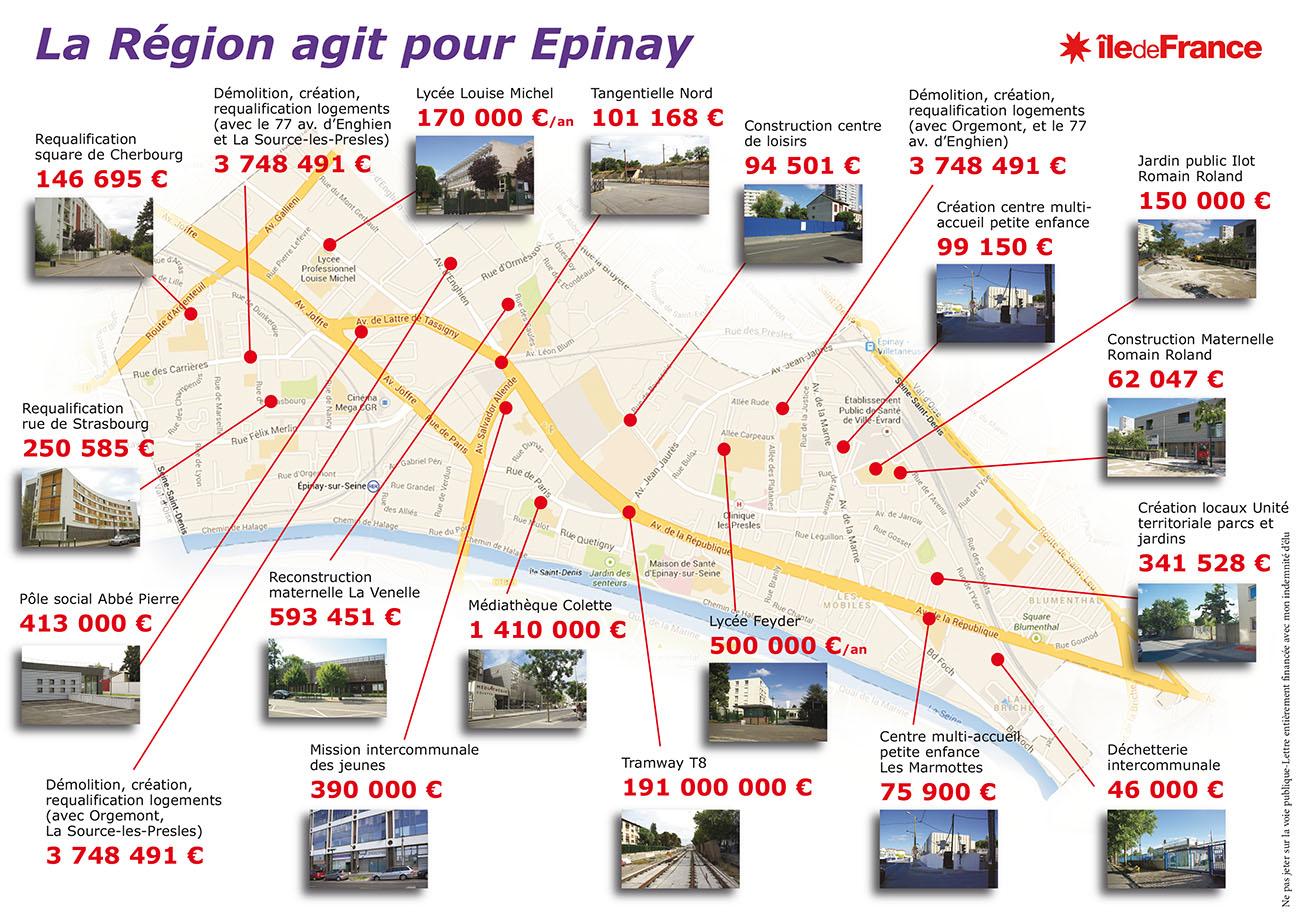 subvention de la région Ile-de-France pour Epinay-sur-Seine