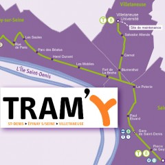 Tram Y et Tangentielle Nordà Epinay sur Seine