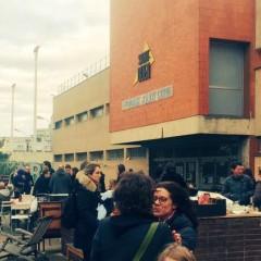 Rassemblement citoyen autour du gymnase Joliot Curie